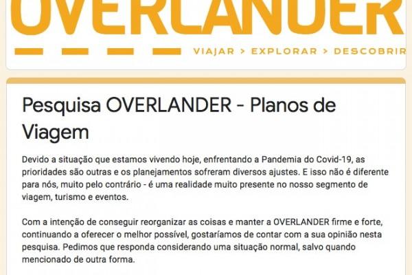 Overlander – Pesquisa